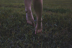 Lift Me Up (misa.stahlova) Tags: 365 365project 50mm canon conceptual feet legs idea sureal lift imaginative whimsical mood simple people female woman meadow jump dreamy passion creative fineart
