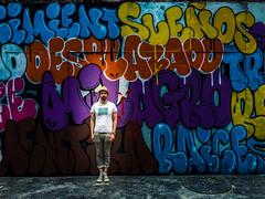 Wall of Words (Mexico City. Gustavo Thomas  2016) (Gustavo Thomas) Tags: muro wall words palabras cdmx ciudaddemxico pared graffiti pinta man hombre hat sombrero bigote moustache street calle mexico mexican