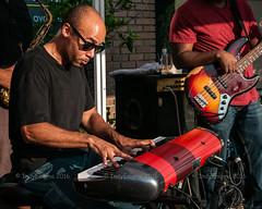 jazzy keyboard (IndyEnigma) Tags: keyboard player music musician bass people jazz jazzkitchen summer indianapolis indiana d300