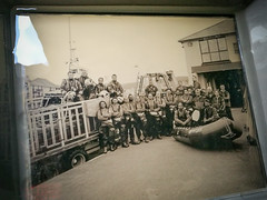 The Final Glass Plate! (si.moore@ymail.com) Tags: rnli aberystwyth thelifeboatstationproject jacklowe collodionprocess huawei p9 simoore 2016