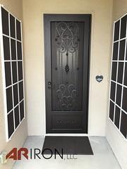 "Solid "" Square Scroll Door (ariron_llc) Tags: security doors gate iron henderson greenvalley lasvegas nevada summerlin northlasvegas sienna anthem artistic powdercoating waterjet wrought"