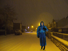 cold snowy night (smmack) Tags: pvc mac boots hood outandabout
