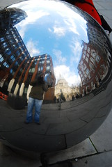 Me and St Pauls (Ackers- Schoolboy Hero!!!!) Tags: reflection london st ball pauls sphere mirrored 2012