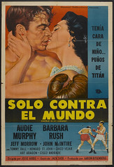 The World in My Corner (1956) (addie65) Tags: vintage couple movieposter hollywood 1950s boxing drama beefcake moviescene boxinggloves hollywoodland audiemurphy classicactor classicfilm classichollywood barbararush boxingmovie universalinternational worldinmycorner boxingnoir