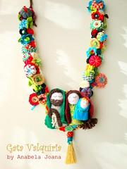 Feliz Natal !!! (Gata Valquria) Tags: flores verde natal cores necklace bonecas crochet flor feltro boneca collar colar fios colares necklaces feltros fuxicos gatavalquiria abbrinhas