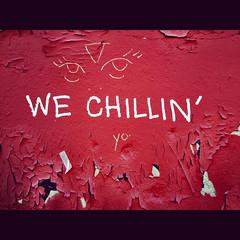 We Chillin' in Bushwick (Jilly in Philly) Tags: ny yo chillin graff bushwick iphone5