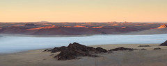 """Mist at Sunrise from balloon in  Sossusvlei Namibia • <a style=""""font-size:0.8em;"""" href=""""https://www.flickr.com/photos/21540187@N07/8291677237/"""" target=""""_blank"""">View on Flickr</a>"""