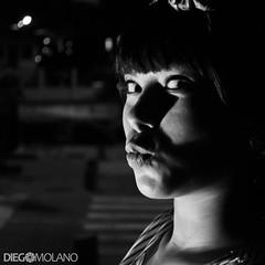 Sammy Lo.Ve (DiegoMolano) Tags: portrait bw blancoynegro look nikon kiss retrato mirada bnw beso formatocuadrado cruzadasgold d3100 cruzadasi