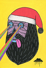 Blackbeard Santa with Laser Beams (Mulga The Artist) Tags: santa beard laserbeams blackbeard joelmoore mulga santadrawing mulgatheartist