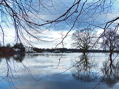 No Racing Today. (Tudor Barlow) Tags: winter england riversevern panasonic rivers racecourse floods worcester christmasday worcesterracecourse lumixfz200