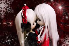 2012.12.24 (Umiiro) Tags: christmas xmas red love rose kiss doll lovers pullip custom 2012 isul