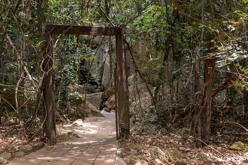Une entrée de grotte digne d'Indiana Jones
