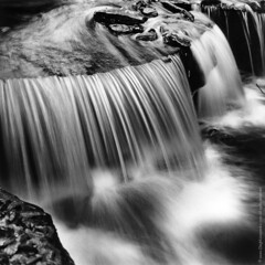 Waterfall II [image only] - 2012 (JurassicParkCamera) Tags: bw classic film nature water darkroom silver paper print landscape flow photography waterfall stream negative analogue oriental silvergelatin