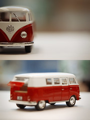 VW bus (Morningdew Photography) Tags: auto door old blue windows red brown white toronto ontario canada black macro green window car closeup vw canon vintage silver volkswagen back diptych dof bokeh side tan cream tire front tires van minivan vwbus on vwvan alienskin exposure4 morningdewphotography t1i ef100l