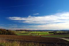 Bavarian Landscape in November - View from Germannsberg near Munich