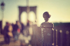 Walking the bridge of dreams ({katesea}) Tags: nyc newyorkcity bridge texture fence 50mm nikon bokeh brooklynbridge friday textured happyfencefriday paintthemoontexture annagayaction