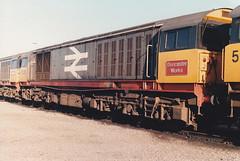 58020 2nd Nov 1986 Coalville Depot (Ian Sharman 1963) Tags: train diesel class works depot 1986 58 doncaster coalville railfreight 58020