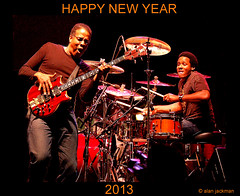 Happy New Year, 2013. (jackman on jazz) Tags: music d50 drums concert guitar percussion jazz newyear nikond50 drummer jam gitara happynewyear guitare jazzmusic stanleyclarke 2013 ronbrunner ronbrunnerjr jackmanonjazz alanjackman