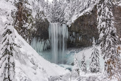 Tamanawas Falls (Joshua Johnston Photography) Tags: blue winter white snow cold ice oregon waterfall cascades mthood canon60d tamanawasfalls
