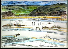 SILVERDALE :: LEIGHTON MOSS :: RSPB RESERVE ::  :: LANCS :: UK (Line Roamer) Tags: uk england pen pencil ink sketch drawing lakes picture reserve lancashire hide watercolour crayon colourpencil birdwatching silverdale aonb rspb leightonmoss lilians fineliner arnsidesilverdaleaonb