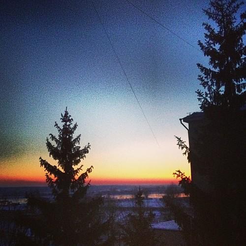 #belarus #mozyr #january #sunrise #winter #2013