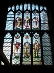 Six Worthies window. Sheffield (Granpic) Tags: window sheffield yorkshire stainedglass sheffieldcathedral waltheof christopherwebb johntalbot thomasnevil williamdelovetot gerarddefurnival sixworthiesofsheffield coloneljohnbright firthfamily