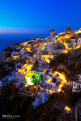 Blue Hour at Oia, Santorini (mj.foto) Tags: sunset heritage nikon aegean unesco santorini greece bluehour oia greekisland aegeansea d700 markjosue markdavidjosue