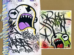 Collabs with Baser (PSYCO ZRCS 10/12) Tags: street new york city art graffiti sticker stickerart label stickers tags trading collab labels usps trade psyco collaboration 228 1012 collaborations slaps collabs 2013 baser zrcs