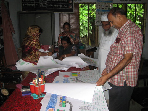 Contest organized for the launching of the Fish Habitat Development Rings in Bangladesh. Photo by Mélody Braun, 2012.