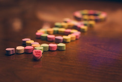 candy hearts (sparkleplenty_fotos) Tags: friends love 50mm candy bokeh sister kisses candyhearts happybirthday always hugs fiddy loveyou xoxo