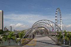 Singapore - The Helix Bridge (Christian Jena) Tags: bridge marina bay singapore helix singapur