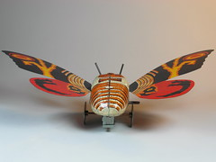 Billiken Shokai  Tin Wind Up  Mothra ()  Box Sides  Back Side (My Toy Museum) Tags: up tin wind godzilla mothra gojira billiken shokai