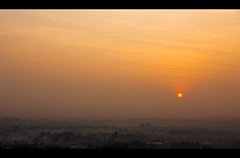 Sunrise from the hill top (Pattugrapher) Tags: winter sun mist fog sunrise golden hill earlymorning pune hilltop pattu pattugrapher