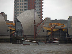 thames sailing barge will /31/1/2013/ (philip bisset) Tags: london will woolwich thamesbarrier thamessailingbarge unitedkingdomriverthames