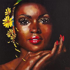 Black Magic 120 x 120 cm (anandanahu) Tags: africa brazil woman black records art brasil modern female painting paint artist acrylic arte african feminine album afro magic femme mulher ar