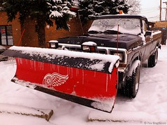 Working Class Wing (Pav B) Tags: snow ford hockey fuji detroit f150 plow snowplow redwings x10 fordf150 fujix10