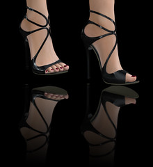 GOS - Grace Sandal - Black Patent 1 (Chandrika-Checchinato) Tags: gos