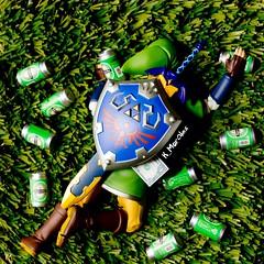 GO HOME LINK, YOU'RE DRUNK (Kmorales3488) Tags: life green home beer grass drunk toys still go youre meme link zelda toyphotography figma uploaded:by=flickrmobile flickriosapp:filter=nofilter