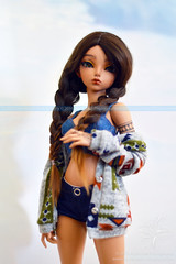 Minifee Rheia with tribal cardigan (koloish) Tags: abjd bjd balljointed doll dolls fairyland minifee rheia