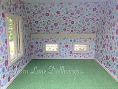 IMG_0408 (AcornLaneDollhouses) Tags: westville greenleaf dollhouse handcrafted finished interior wallpaper carpeted custom trim