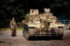 Panzer starting up (Paul Parkinson LRPS (parkylondon)) Tags: 2016 august detling kent militaryodyssey history livinghistory military reenactment warfare