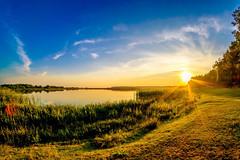 Lake sunset (meleshko.alex) Tags: europe ukraine volyn lake landscape sun sunset sky travel trees tree trip treas clouds fujifilm fuji fujinon xt1 samyang samyang8mm reflection rokinon rokinon8mm fisheye hdr