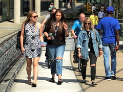 Varied trio (marbowd37) Tags: salford salfordquays mediacity people streetphotography girl