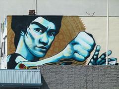 Bruce (Jef Poskanzer) Tags: brucelee mural geotagged geo:lat=3779793 geo:lon=12227084 t