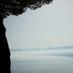 Scopello (Ged Slaughter Photography) Tags: scopello tree silhouette landscape gedslaughter haze hazy mist misty sicilia sicily italy italia coast sea seascape heat summer