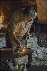Sparks from a hard working blacksmith (squirrel.boyd) Tags: cyril boyd photography smithy blacksmith forge anvil sparks metalwork