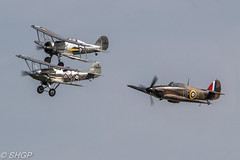 Hurricane, Gladiator and Demon - Old Warden Season Premiere Airshow (harrison-green) Tags: old warden season premiere airshow shuttleworth collection air display show aircraft aviation world war 2 fighter plane canon 700d sigma 150500mm lulu belle bell vehicle airplane outdoor red arrows raf roysl force magister ryan pt22 tiger moth blackburn b2 trainer biplane fiesler storch lysander westland t6 texan harvard hurricane hawker hind gloster gladiator