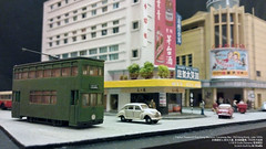 1:150 Scale Diorama | Capitol Theatre & Ying Kong Mansion, Causeway Bay , Old Hong Kong, Late 1950s  & , , 1950  /  /  (AC Studio) Tags: 1150 n gauge scale model capitol theatre hong kong hongkong miniature scratchbuilt scratch scenery diorama causeway bay cwb ying mansion  old late 1950s    50      yee wo street    jardines bazaar