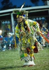 Crow Indian - chicken dance (jimbobphoto) Tags: nativeamerican firstpeople dance warrior montana feather yellow crownation contest fringe beadwork