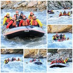 Rafting on the Nenana River (karma (Karen)) Tags: nenanariver alaska rivers rafting rapids classiiiivrapids collages mmm